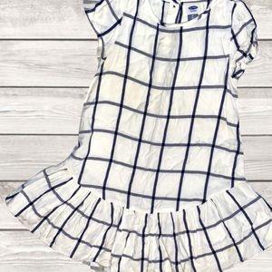Old Navy, 5T, Navy/White Checkered Dress/Tunic